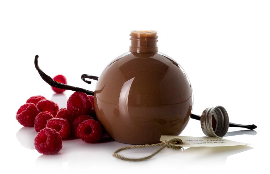 Batido de chocolate y frambuesa